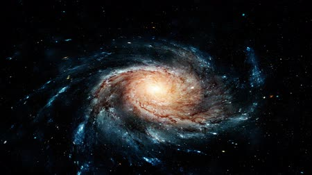 constelação : Flight near a rotating spiral galaxy. Abstract Loopable Background.