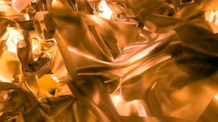 ágynemű : Beautiful abstraction of yellow glowing cloth. Animation of seamless loop.