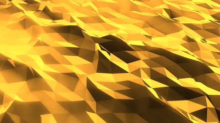 faceta : Abstract low poly green sea. Loopable. Golden