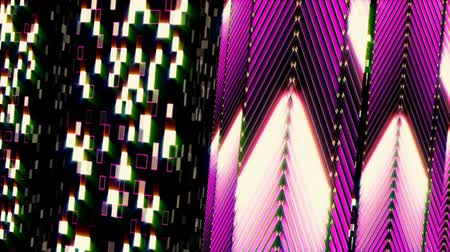 digital art : Looped seamless light abstract for event, concert, presentation, music videos, party, vj, led screens and more. Stock Footage