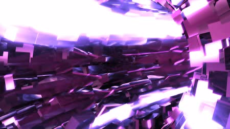 catacomb : Abstract background with animation of flight in sci-fi tunnel. Looped animation. Stock Footage