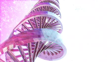 dvojitý : Abstract Loopable Background with rotating abstract DNA