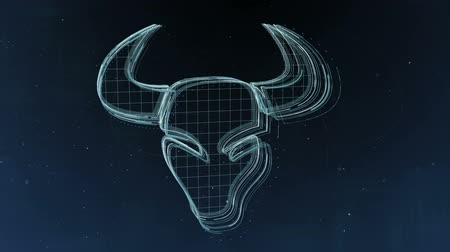 semanal : Zodiac signs Taurus and beautiful background for presentations, video intro, horoscope, films, transition, titles and much more. Stock Footage