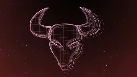 asztrológiai : Zodiac signs Taurus and beautiful background for presentations, video intro, horoscope, films, transition, titles and much more. Stock mozgókép