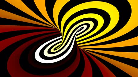 yanılsama : Hypnotic spiral illusion seamless looping Stok Video