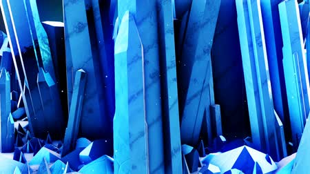 facets : Abstract CGI motion graphics with a forest of crystals