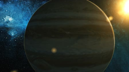 andromeda : Realistic Planet Jupiter from space Stock Footage