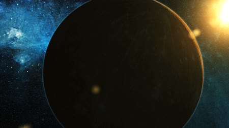 kepler : Realistic Planet Mercury from space Stock Footage