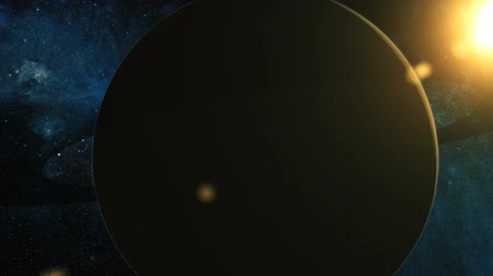 kepler : Realistic Planet Saturn from space Stock Footage