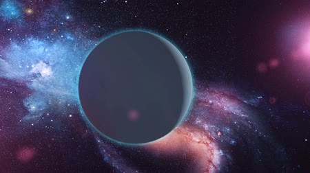 kepler : Realistic Planet Uranus from space Stock Footage
