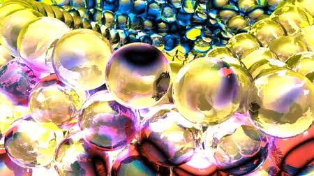 lebontották : Ice abstract spheres rotating in slow motion. Loopable Background. Stock mozgókép