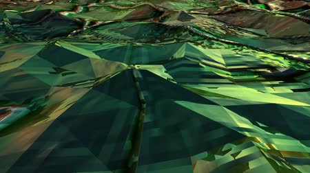 origami : Green Low Poly Sea Abstract Background. Seamlessly Loopable.