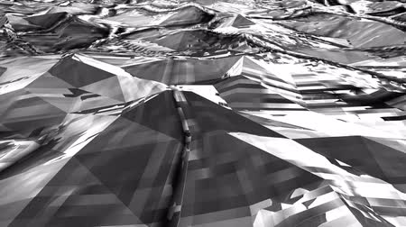origami : Black-white Low Poly Sea Abstract Background. Seamlessly Loopable. Stock Footage