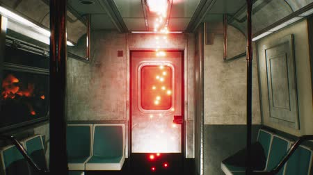 crânio : Abandoned railway horror train with ghosts. Horror and post apocalyptic scene. Loopable.