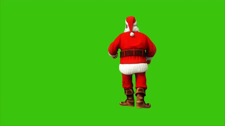 świety mikołaj : Santa claus dancing on green screen during Christmas 4k. Seamless loop animation.