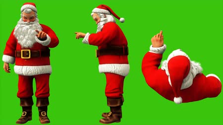 świety mikołaj : Santa Claus is typing the code on the green screen during Christmas 4k. Seamless loop animation.