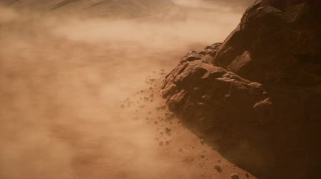 mitologia : Ballsy a few dragons flying over the scorching desert on a Sunny day. 3D animation fantasy background Vídeos
