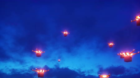 fotografando : Autonomous delivery of parcels by unmanned drones-quadrocopters flying on a night. Vídeos