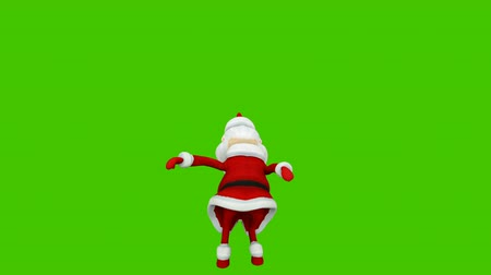 The dance of a cheerful Santa Claus. The Concept Of Christmas. Looped animation in front of green screen.