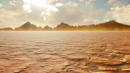 aftermath : Apocalyptic desert. Post-Apocalypse, global warming, climate change, hot dusty desert. Looped background.