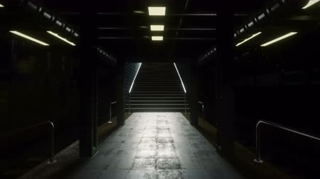 rapid transit : A camera flight through a mystical deserted subway. Post-Apocalypse, subway and apocalyptic metro.