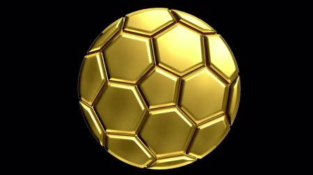 fond jaune : Ballon de football d'or avec clip alpha de faire tout fond