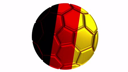 Germany soccer ball with alpha clip to make any background Vídeos