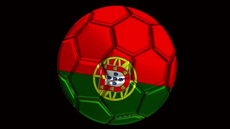 áttekinthetőség : Portugal soccer ball with alpha clip to make any background