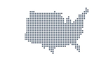 devletler : USA Dot Map. Concept for Networking, Technology and Connections. Motion Graphic