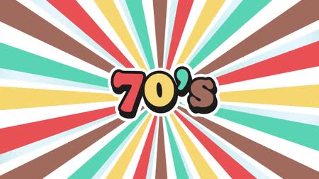 Old School 70s Vintage Motion Graphic Background Wideo