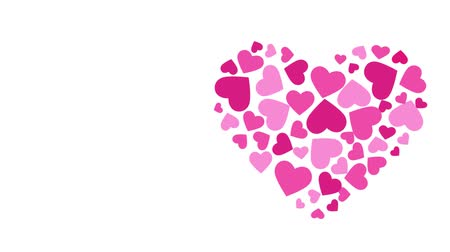Valentines Hearts by Hearts Animation. Motion graphic HD