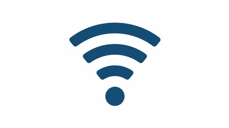 электроника : Wireless WiFi Symbol isolated Video Animation