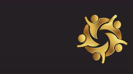 veterano : Golden VIP People Club. Logo Video Animation