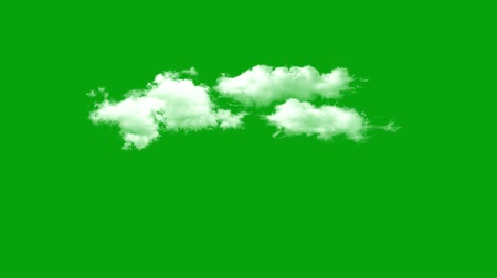 grafikleri : flying clouds with green screen background