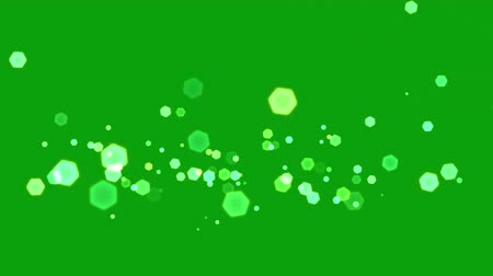 brilho intenso : Lens sparkles motion graphics with green screen background Vídeos