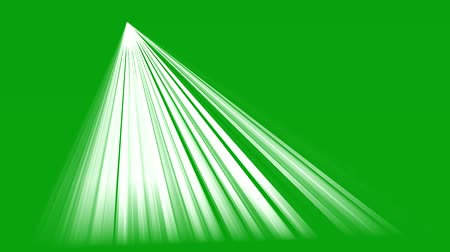 Rays of light with green screen background 2