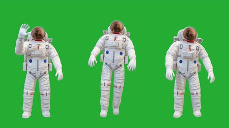 Astronaut motion graphics with green screen background