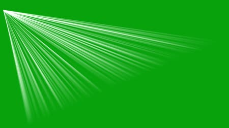 Rays of light motion graphics with green screen background