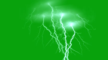 гром : Lighting bolt motion graphics with green screen background