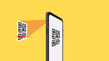 code : Qr verification. A mobile phone with a scanner reads the qr code.
