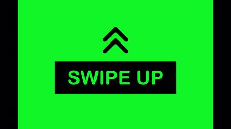 эмблема : Swipe up icon isolated on green background for stories design.