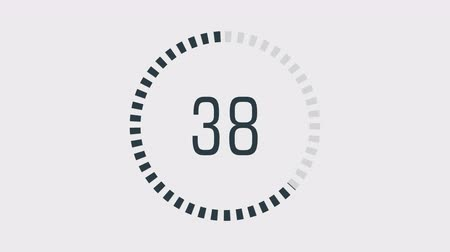 chegada : Countdown one minute animation from 60 to 0 seconds