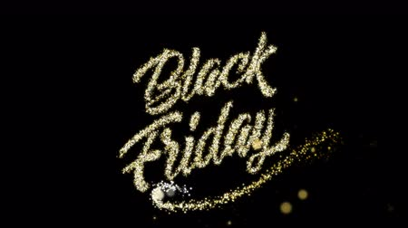 kaligrafia : Black Friday gold silver sign for promo video