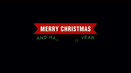 typografie : Merry Christmas flat lable for greeting