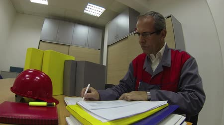 coo : Chief executive officer signing document at his workplace.HD1080p.GoPro HERO3. Stock Footage