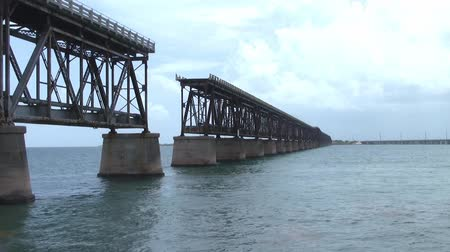 defunct : The Derelict Bahia Honda Railroad Bridge in the Florida Keys, United States