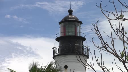 The Black Lantern Room of Cape Florida Lighthouse on Key Biscayne, Florida Stock Footage