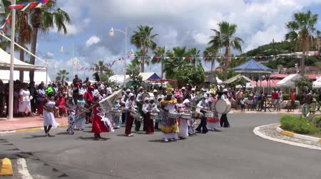 assalto : Marigot, Saint Martin - Circa July 2013: Creola Band Marching and Playing Music at the Parade on the 14th July, the French National Holiday in Marigot, Saint Martin (Sint Maarten)