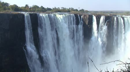 zimbabwe : Victoria Falls and Gorge with Tumbling White Water, Zambezi River, between Zimbabwe and Zambia, Africa