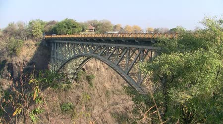 points of interest : Famous Victoria Falls Railroad Bridge with Bungee Jump in Zimbabwe, Africa